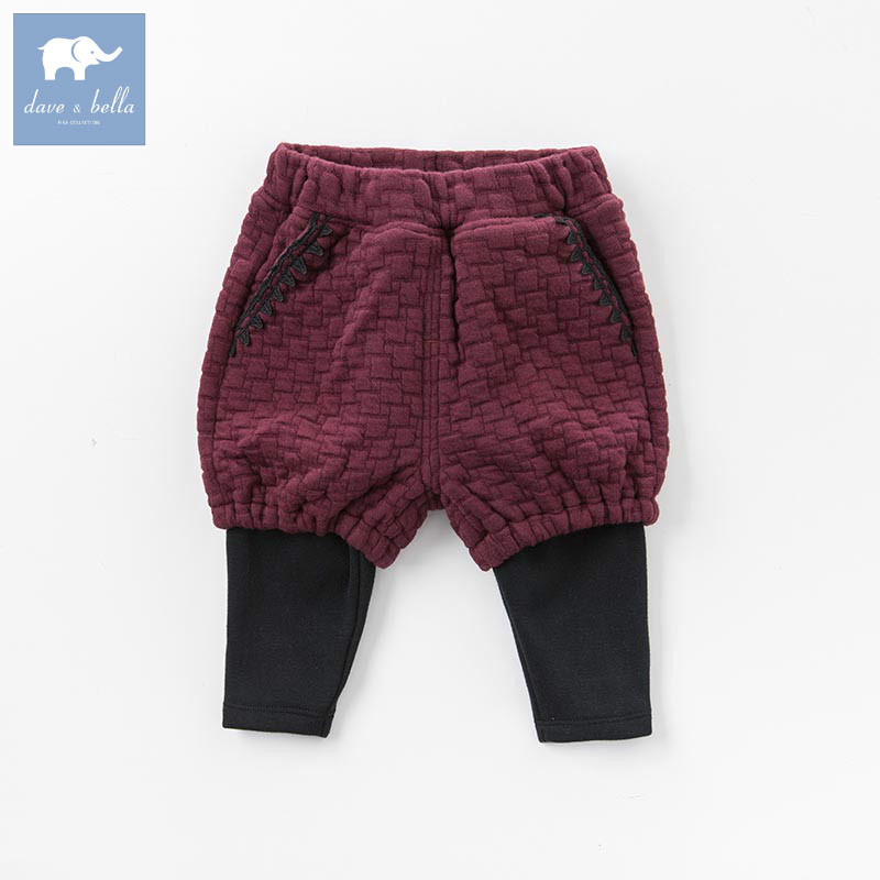 DB5599 dave bella autumn infant baby girls full length fashion fake two pants children toddler trousers 1 piece