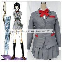 Bleach Kuchiki Rukia School Uniform Women's Cosplay Costume For Halloween Party Freeshipping