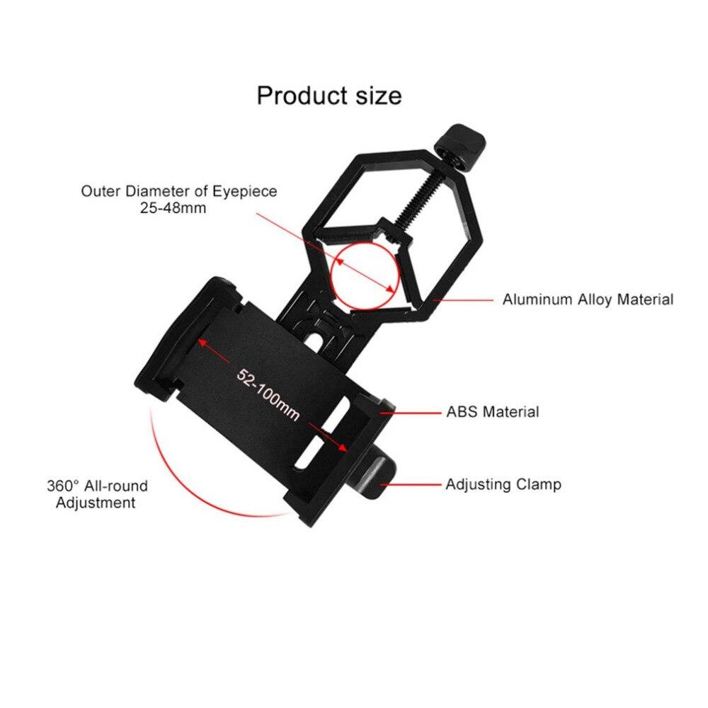 Новый портативный CM-4 адаптер микроскопа зажим бинокулярный Монокуляр Зрительная труба универсальный держатель адаптера для мобильного те...