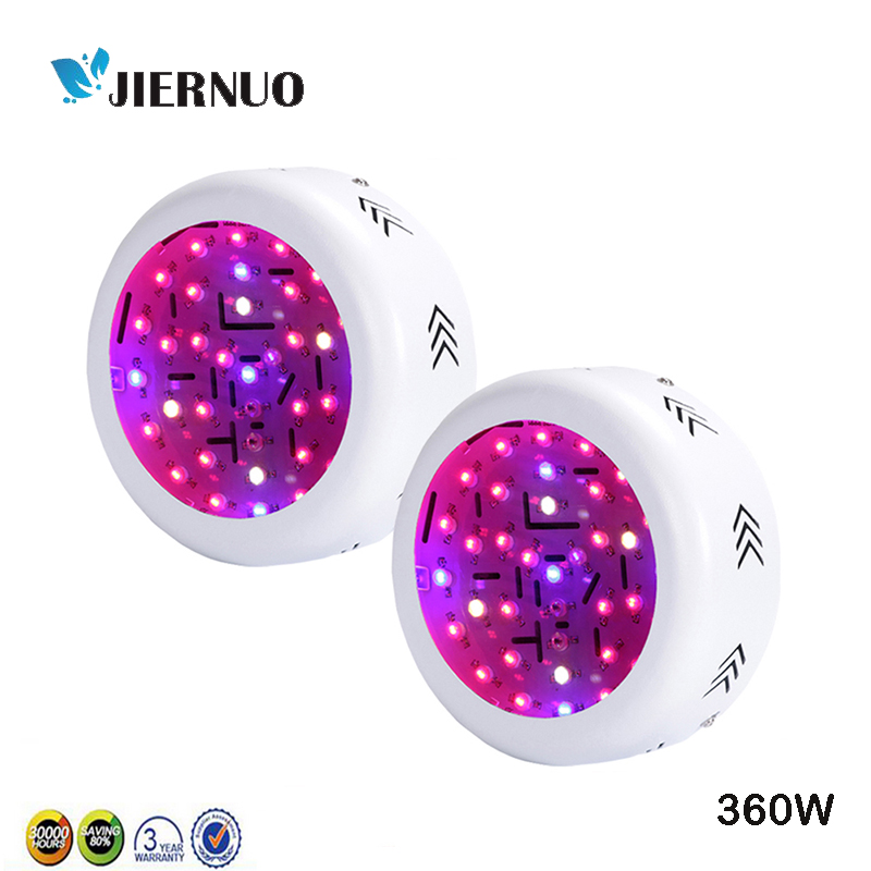 2PCS 360W Double Chip UFO LED Grow Light Fitolampa Full Spectrum 410-730nm Plant Light For Indoor Plant Flowering And Growing AE 2pcs 30mil 10w 660nm plant grow lights led chip dc6 7v 1000ma excellent quality light source for plant grow faster and batter
