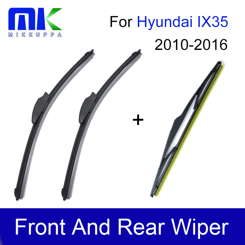 Mikkuppa Wiper Blades For Hyundai IX35 Accessories 2010 2011 2012 2013 2014 2015 2016 Auto Car Accessories for hyundai ix35 tucson 2010 2011 2012 auto front