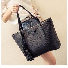 Female Bag High Quality The New  Fashion Tote Bags  Large Capacity  Handbag  Joker  Leisure Tassel Single Shoulder  Big Bag