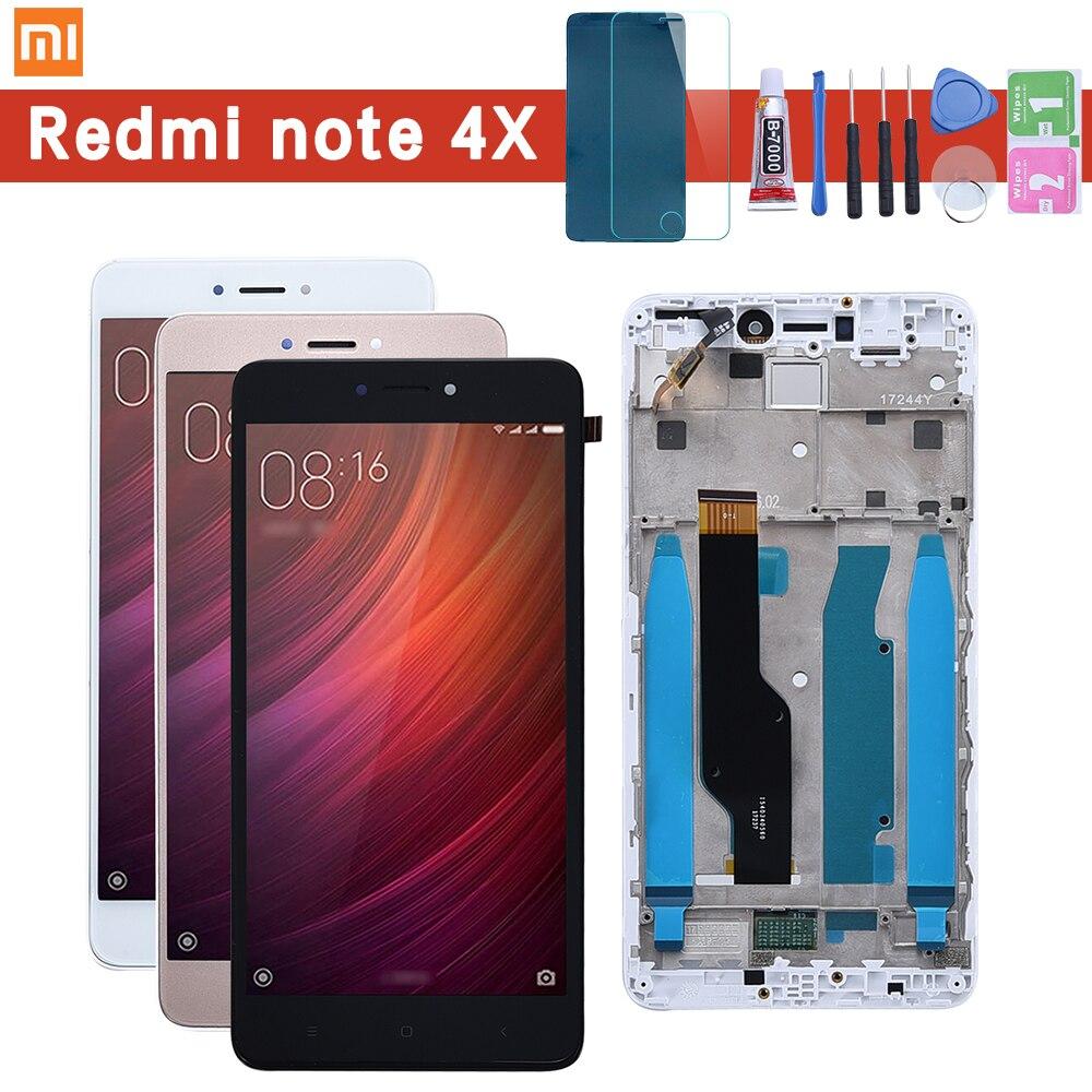 Para Xiaomi redmi note 4X note4X Nota 4 versión Global Snapdragon 625 3 GB 32 GB pantalla LCD + pantalla táctil digitalizador con marco