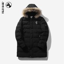 Field Base 2017 Top Quality Warm Men's Winter Jacket Windproof Casual Outerwear Thick Medium Long Coat Men Parka Plus Size 4XL