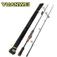 YUANWEI 2 초 목재 핸들 스피닝로드 1.98m 2.1m 2.4m ML/M/MH 카본 루어 낚싯대 Vara De Pesca Peche Olta Fishing Stick