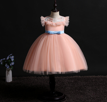 New pattern baby girl clothes dress wedding sleeveless girls Stage performance princess