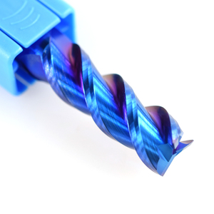 Image 5 - XCAN 1pc 1 12mm Blue Coated 3 Flute Carbide End Mills Aluminum Cutting Milling Cutter Spiral Router Bit CNC End Mill