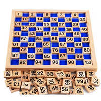 Montessori Pädagogisches Holz Spielzeug Für Kinder Baby Spielzeug 1-100 Digit Tisch Mathematik Unterricht Für Kinder