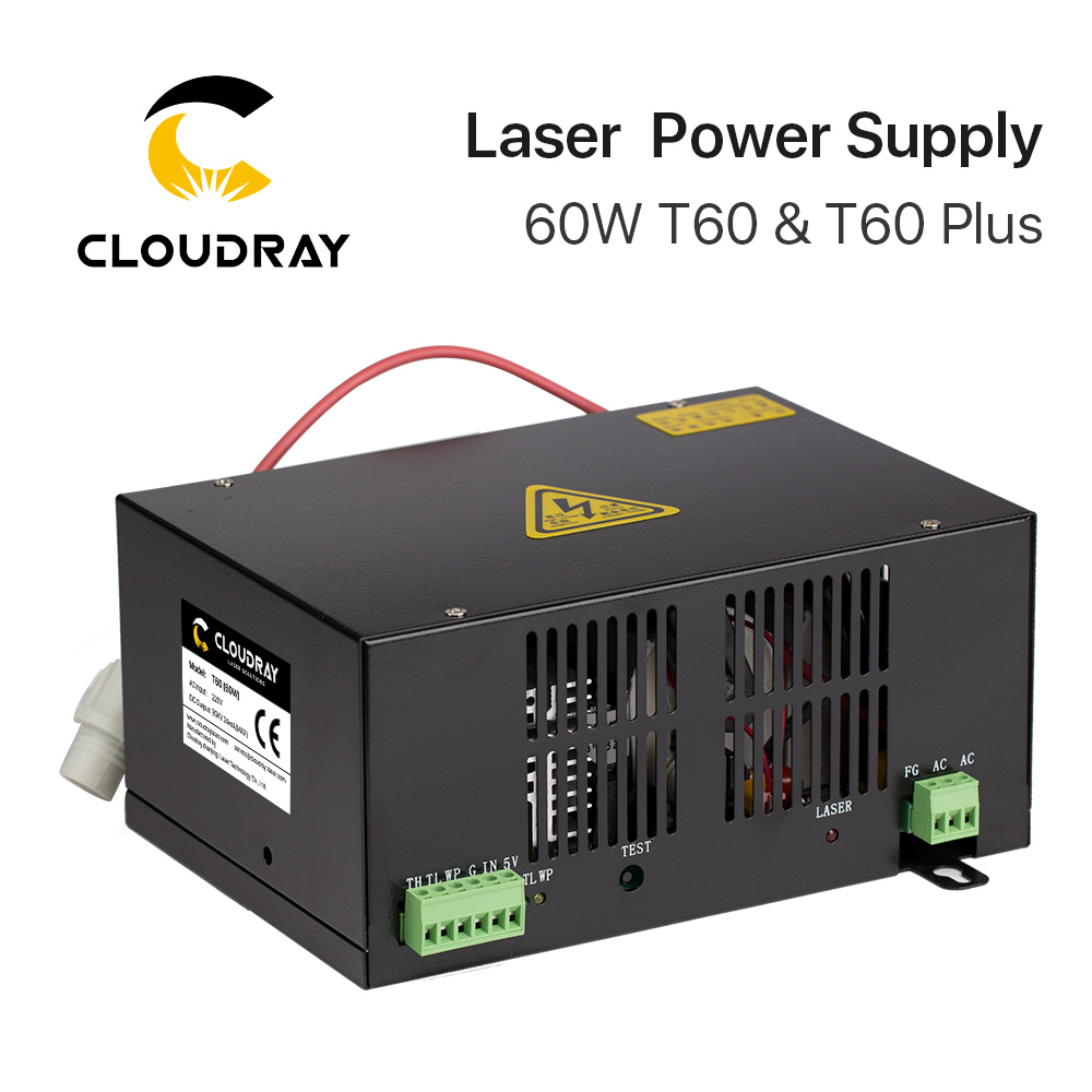 Cloudray 60W CO2 Laser Power Supply for CO2 Laser Engraving Cutting Machine HY T60 T W