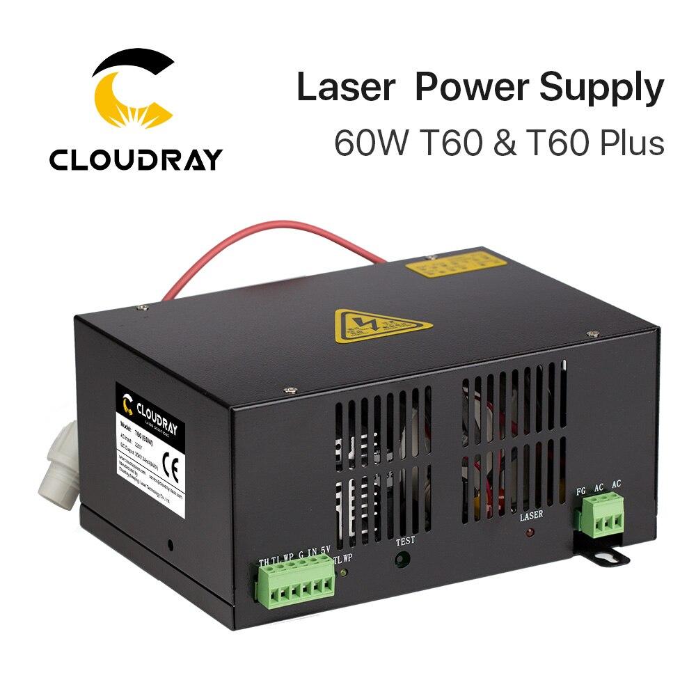 Cloudray 60 Вт CO2 лазерной Питание для CO2 лазерной гравировки, резки HY-T60 T/W плюс серии с длинной гарантия