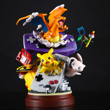 Anime Resin Statue Gameboy Pika Mewtwo Charizard Action Figure Toys Dreamlike Figure Toys Collection Gifts for Kids