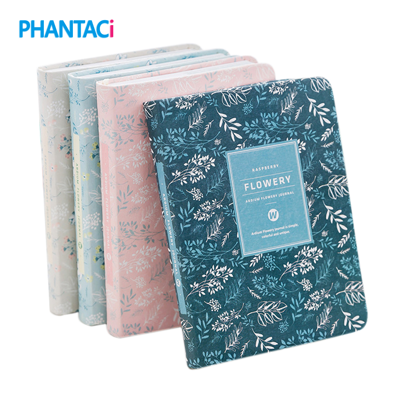 Korean New 2018 Kawaii Vintage Flower Schedule Yearly Diary Weekly Monthly Daily Planner Organizer Paper Notebook A6 Agendas
