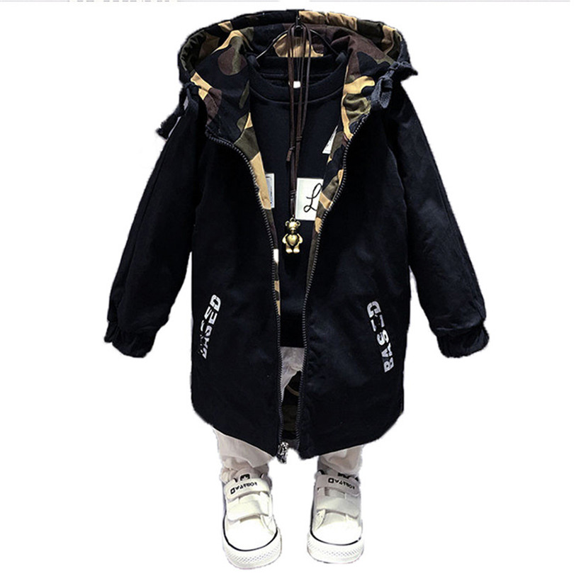 Baby Boy Clothes 4 13T Boys Jacket Spring Boys Outwear For Children Kids Hooded Coats Fashion Boy Windbreaker-in Jackets & Coats from Mother & Kids