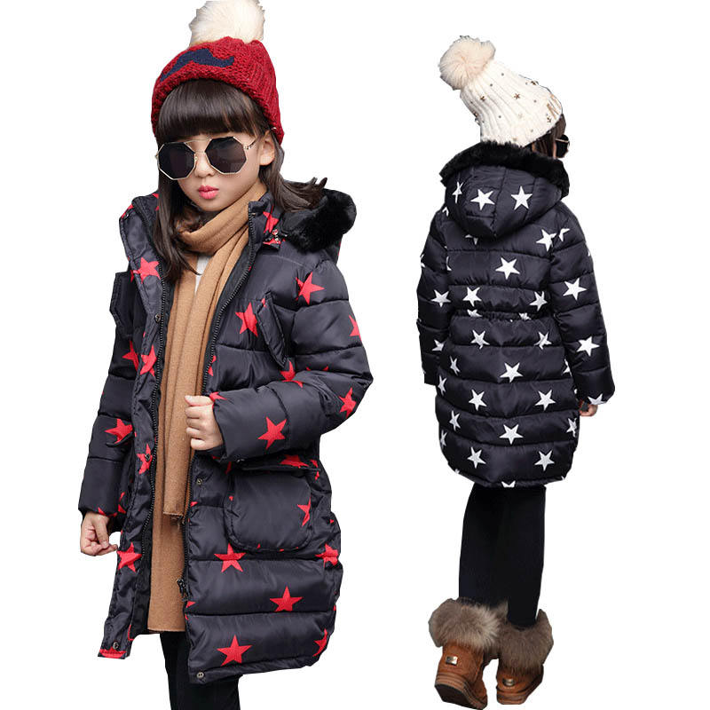 Girls clothing winter 2018 outerwear coats down parkas girls snow wear children jackets for girls down coat kids jackets clothes girls clothing down