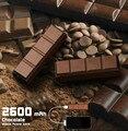 Шоколад Мобильный Банк Питания 2600 мАч 18650 Cargador Портативное Зарядное Устройство Powerbank Bateria наружный Каррегадор Portatil Para Celular
