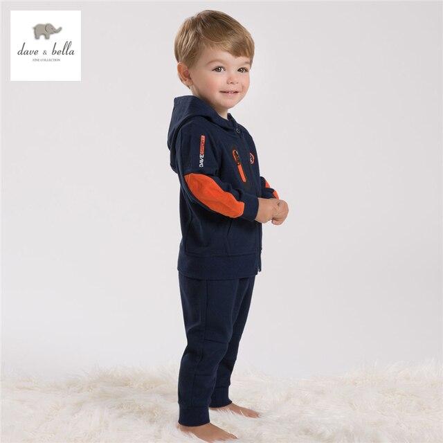 DB4282 davebella мальчиков спортивная одежда набор детей вмс устанавливает детская одежда