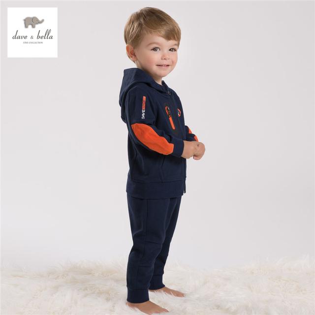 DB4282 davebella niños vestimenta deportiva set navy niños establece ropa de los cabritos