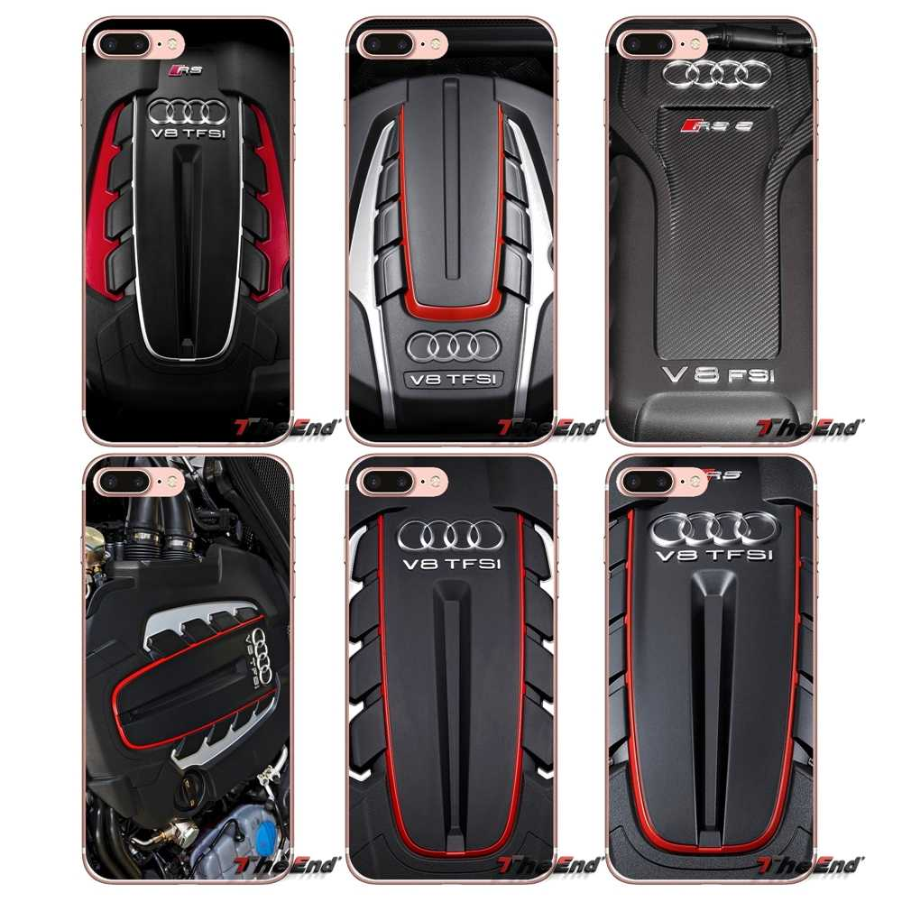 hight resolution of audi twin turbo v8 engine logo soft case for iphone x 4 4s 5 5s 5c