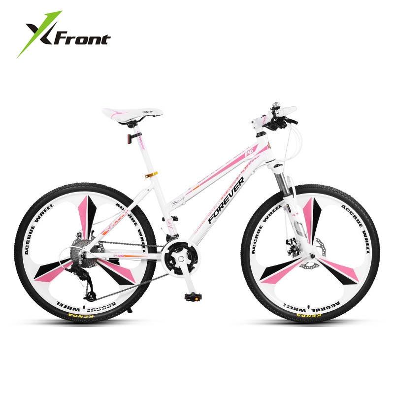 New Brand Ladys Mountain Bike Aluminum Alloy Frame 24/26 inch Wheel 27 Speed Dual Disc Brake Women Bicycle Outdoor Bicicleta
