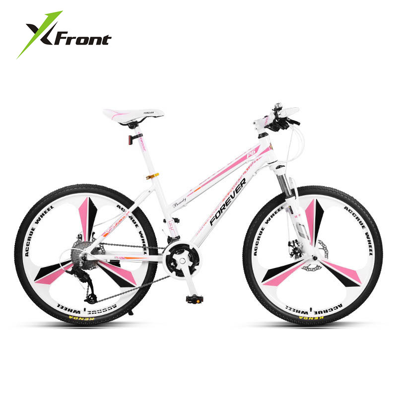 New Brand Lady's Mountain Bike Aluminum Alloy Frame 24/26 inch Wheel 27 Speed Dual Disc Brake Women Bicycle Outdoor Bicicleta image