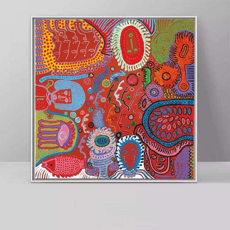 SELFLESSLY ART Yayoi Kusama Posters Canvas Art Painting Cartoon Print Picture For Kids Room Wall Art Home Decor Unframed