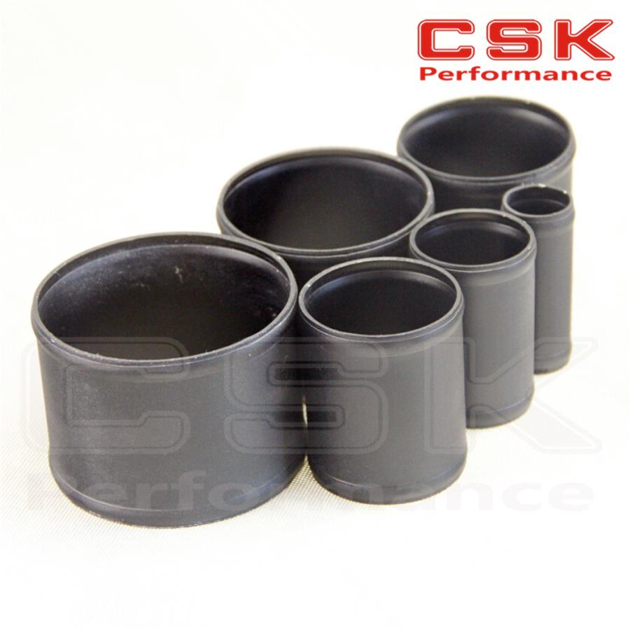 """2.5/"""" 63mm Aluminium Alloy Hose Joiner Pipe Connector Silicone Rubber"""