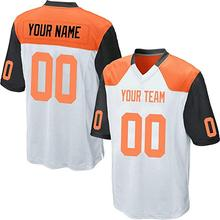 Custom White Mesh Replica Football Game Jersey Embroidered High Shcool  College Team Your Own Logo Name Numbers for Men Women Kid effe335d7