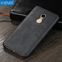 Free Shipping X Level Luxury Vintage PU Leather Phone Case For Xiaomi Redmi Note 4 Back