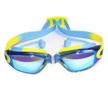 Профессиональные силиконовые прозрачные плавательные очки Анти-туман УФ детские спортивные очки плавательные очки с затычкой для ушей для детей
