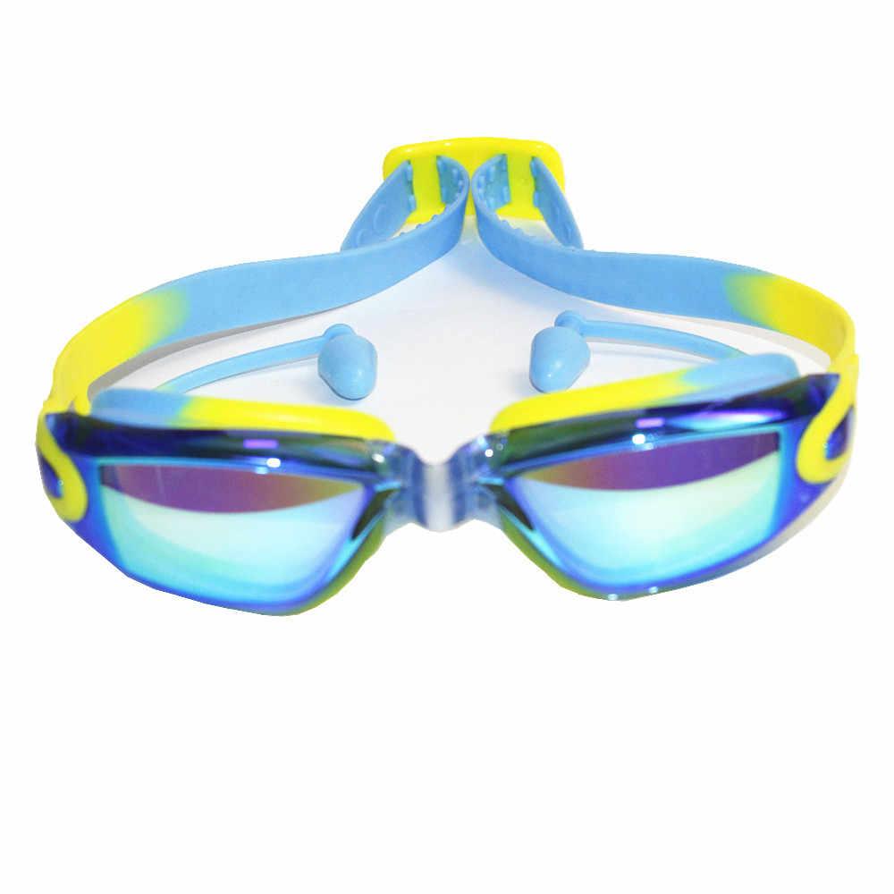 ab60e6d4769 Professional Silicone transparent Swimming Goggles Anti-fog UV kids Sports  Eyewear Swimming Glasses With Earplug