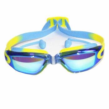 comprando ahora la compra auténtico buscar auténtico Gafas de natación transparentes de silicona profesional Anti-niebla UV para  niños gafas deportivas gafas de natación con auriculares para niños
