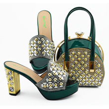 High Quality Italian Design Slipper Italian Shoes and Matching Bags African Shoes and Matching Bags Party Shoes and Bag Sets capputine wedding shoes and bag set women shoes and bag set in italy design italian shoes with matching bag set shipping dhl