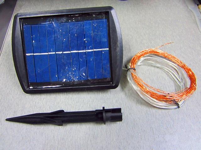 6 M 130 Alambre De Cobre LED Cadena de Luz Led Solar Powered