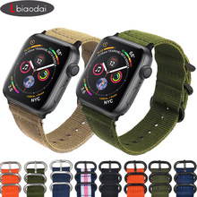 Nato strap For Apple watch band 4 44mm 40mm iwatch band 42mm 38mm correa nylon Watchband Bracelet watch Accessories series 4 3 2(China)
