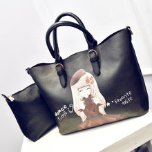 Cute Princess Printing Handbag Women Designer Fashion PU Shoulder Bag Casual Chic Ladies Stylish Durable Large Crossbody Bag