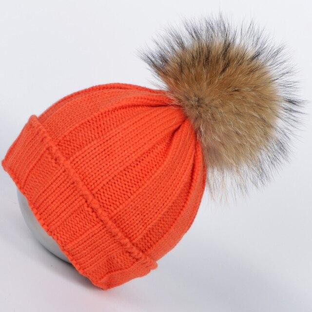 2016 winter hats for women real fur pompom Skullies & Beanies hat cap women