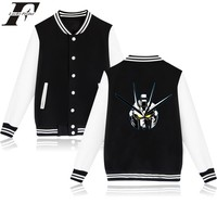 LUCKYFRIDAYF GUNDAM Baseball Jacket Hoodies Men Sweatshirt Famous Japan Cartoon Sweatshirt Men Hoodie Gundam Model Jacket