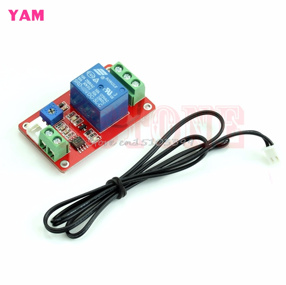 DC 5V Control Switch 1 Channel Thermistor Relay Sensor Temperature Detection #G205M# Best Quality dc 24v photoresistor module relay light detection sensor light control switch s018y high quality