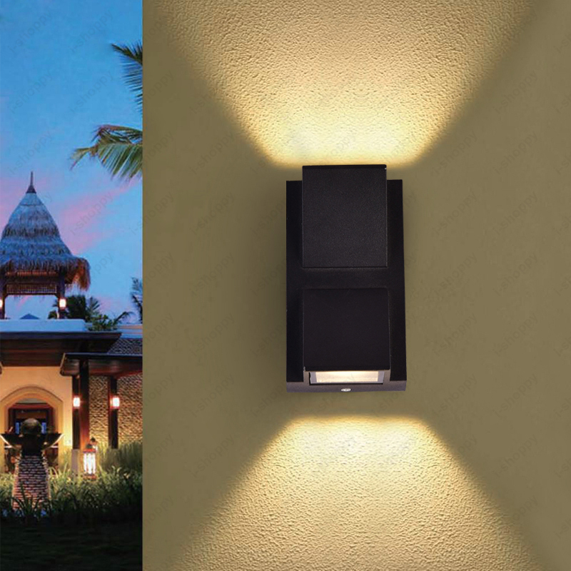 Up/Down 6W LED Wall Sconce Light Waterproof Outdoor Lamp ... on Exterior Wall Sconce Light Fixtures id=77525