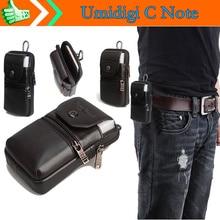 Натуральная кожа носить Зажим для ремня Талия мешок кошелек чехол для umidigi c Note 5.5 дюймовый водонепроницаемый смартфон Бесплатная Прямая доставка