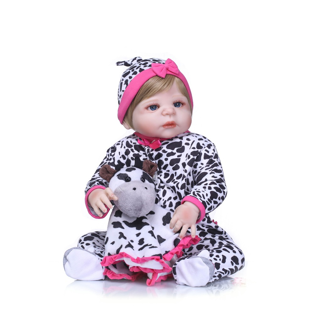 NPKCOLLECTION New Arrival Baby Girl Reborn Dolls Kids Toy Full Silicone Vinyl 55cm Real Lifelike Bebe Reborn Alive Doll Gifts броши city flash брошь
