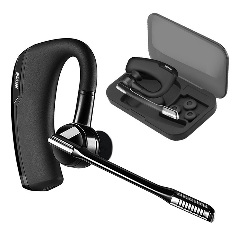 V8 Stereo Handsfree Wireless Business Bluetooth Earphone Headphones Car Driver Handsfree Bluetooth Headset with Storage Box mini stereo car bluetooth headset wireless earphone bluetooth handsfree car kit with 2 usb base charging dock