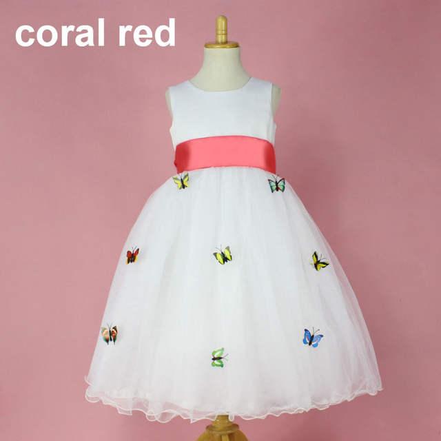 8acf69d3e6 placeholder Niños ropa para niñas ropa de verano ceremonias vestidos de  fiesta bebé mariposas applique de boda