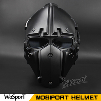WoSpor Hot Tactical OBSIDIAN GREEN GOBL TERMINATOR Helmet & Mask goggle Tactical Safety with Defogging Built in Fan