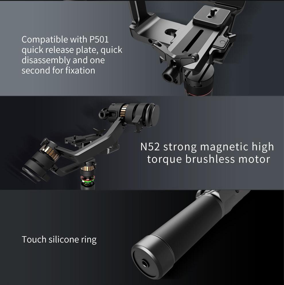 Image 3 - FeiyuTech AK2000 AK2000s 3 Axis Camera Stabilizer Gimbal for DSLRs Sony Canon 5D Panasonic GH5 Nikon 2.8 kg PayloadCardan à tenir à la main   -
