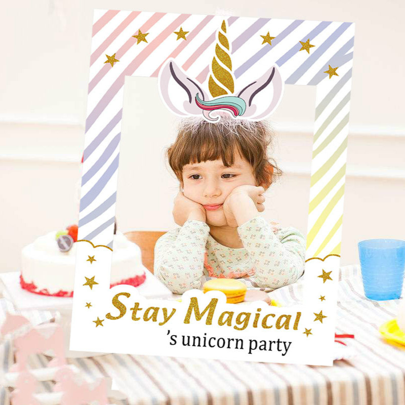 1set Newest Unicorn Party Photo Booth Props Frame Happy Birthday Party Decorations Kids Photobooth Props Party Favors Supplies Photobooth Props Aliexpress
