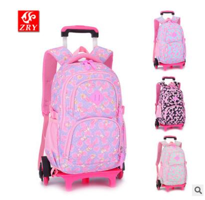 kids Rolling bags On wheels Children wheeled backpack for girls kid School Trolley Bag Travel Trolley School backpack bag Child boy s car trolley case wheeled rolling bag 3d children travel suitcase trolley school backpack kid s trolley bags with wheels