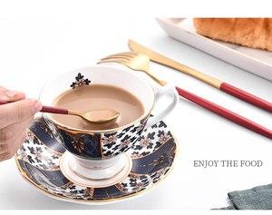 Image 5 - 2020 新加入レッドゴールド食器西部カトラリースプーンフォークナイフ箸食器セット食品の写真撮影の背景の小道具