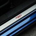 2 шт. двери автомобиля порог двери пластина Для TOYOTA BRZ STI 86 TRD Легированной Стали Пороги Badgs Эмблемы автомобиля укладки