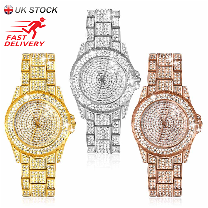 JUBAOLI Neue Luxus Frauen Uhren Strass Kristall Armbanduhr Dame Kleid Uhr männer Luxus Analog Quarz Uhren Relogio